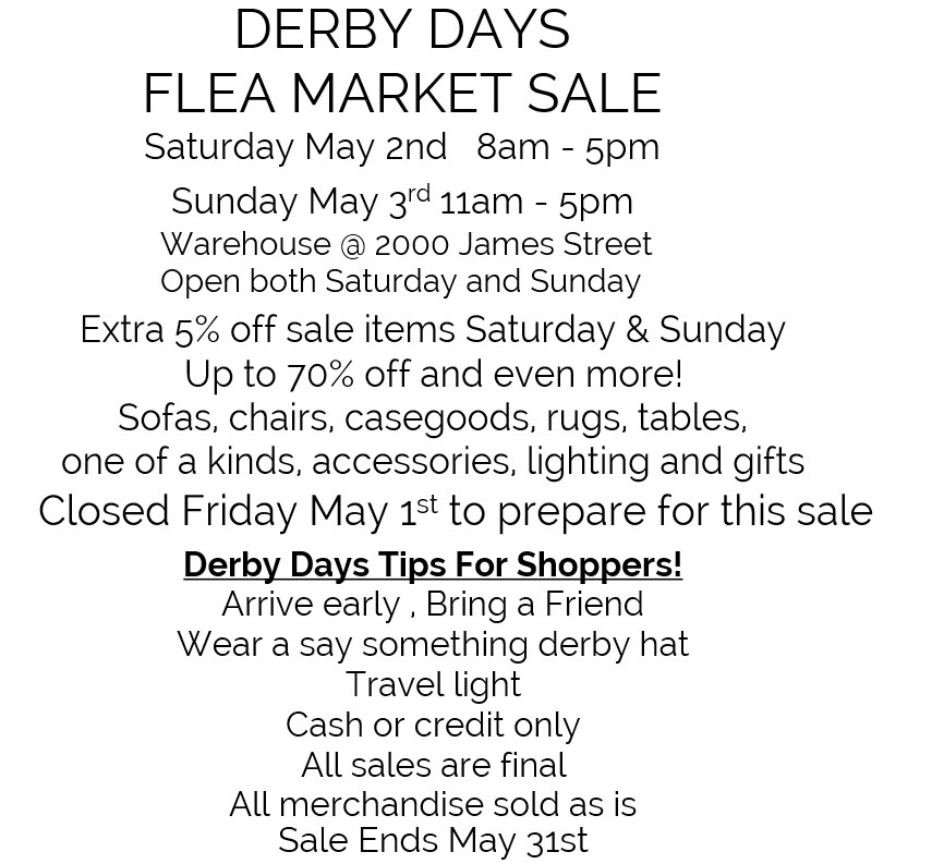 dERBY dAYS sALE