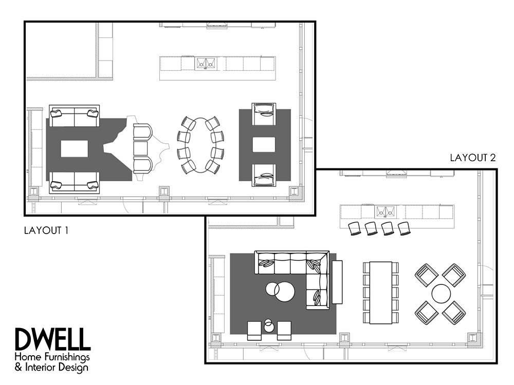 Coralville Iowa Interior Design Service Room Layout