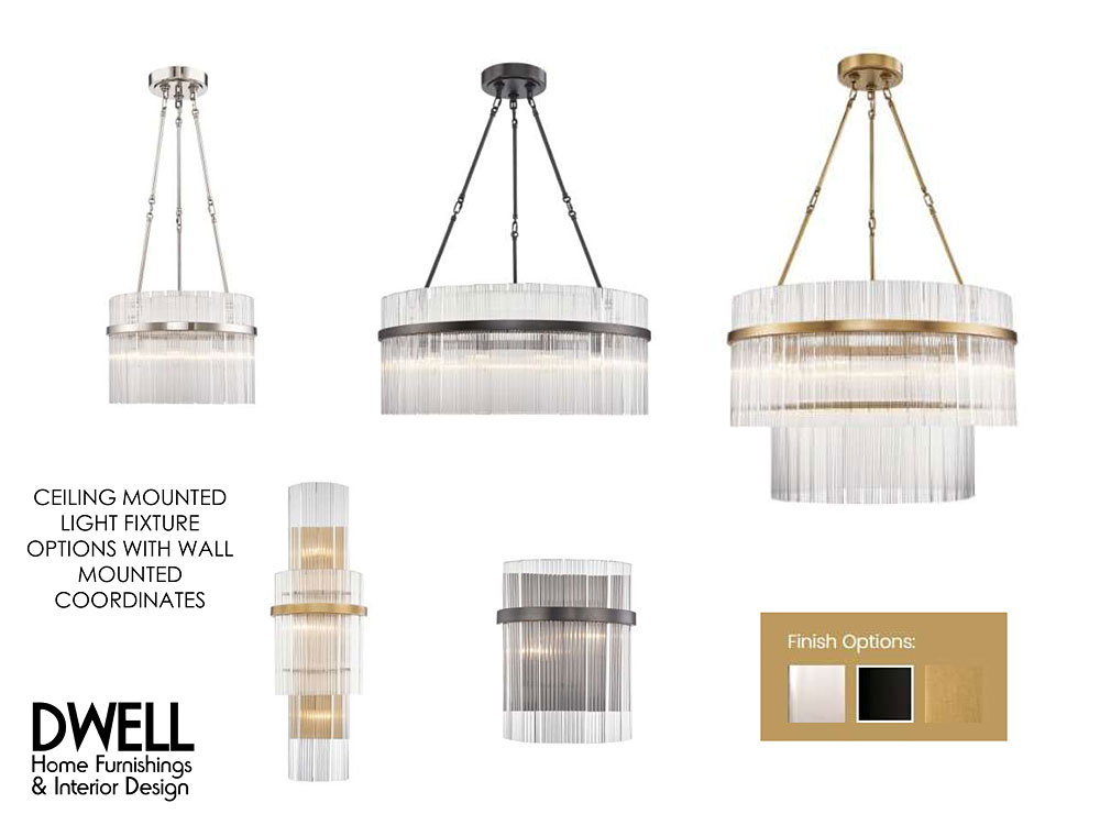 Coralville Iowa interior design lighting fixture options